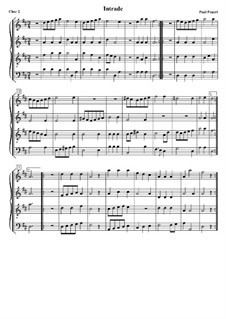 Intrade. Choir II: Version for flutes by Paul Peuerl