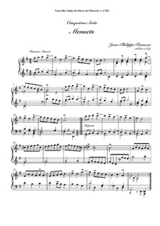 Harpsichord Suite in G Minor, RCT 6: Two minuets by Jean-Philippe Rameau