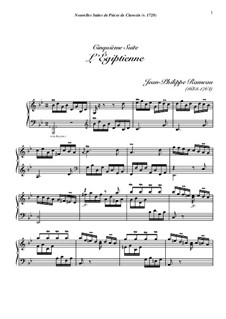 Harpsichord Suite in G Minor, RCT 6: L'égyptienne by Jean-Philippe Rameau