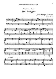 Harpsichord Suite in G Minor, RCT 6: Les sauvages by Jean-Philippe Rameau