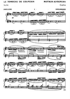 Le tombeau de Couperin for Piano, M.68: For a single performer by Maurice Ravel