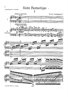 Fantastic Suite for Piano and Orchestra, Op.7: Movement I. Arrangement for two pianos four hands by Ernest Schelling