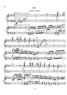 Fantastic Suite for Piano and Orchestra, Op.7: Movement IV. Arrangement for two pianos four hands by Ernest Schelling