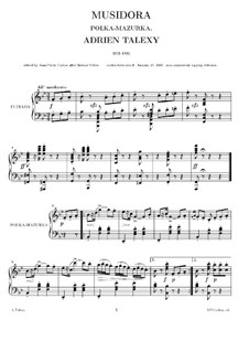 Musidora: For piano (high quality sheet music) by Adrien Talexy