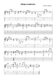 Allegro Moderato: For guitar by Dionisio Aguado
