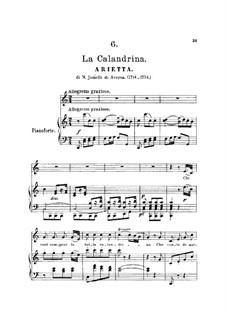 La Calandrina. Arietta: La Calandrina. Arietta by Niccolò Jommelli