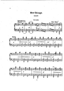 New Chicago. Galop: Version for piano four hands by Henry Maylath