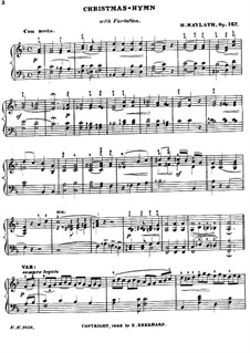 Christmas-Hymn with Variation, Op.167: Christmas-Hymn with Variation by Henry Maylath
