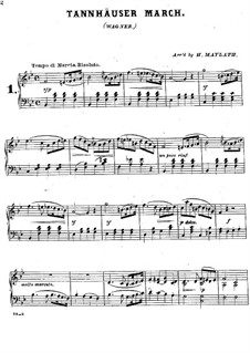 Grand March: For piano by Richard Wagner