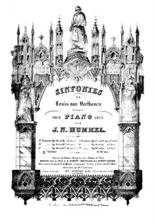 Complete Symphony: Version for piano by J. N. Hummel by Ludwig van Beethoven