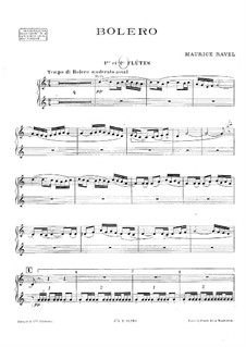 Bolero, M.81: Flutes part by Maurice Ravel