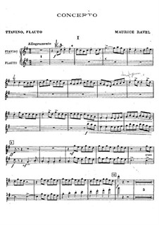 Concerto for Piano and Orchestra in G Major, M.83: Flutes part by Maurice Ravel