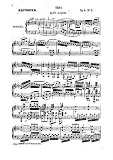 Three String Trios, Op.9: Version for piano by Ludwig van Beethoven