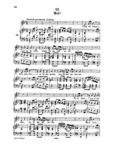 No.22 Mut (Courage): Piano-vocal score by Franz Schubert