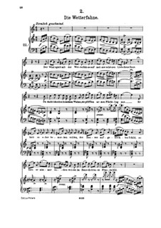 No.2 Die Wetterfahne (The Weather Vane): Piano-vocal score by Franz Schubert