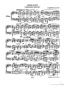 Two Fairy Tales, Op.14: Two Fairy Tales by Nikolai Medtner