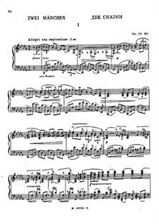Two Fairy Tales, Op.20: Complete set by Nikolai Medtner