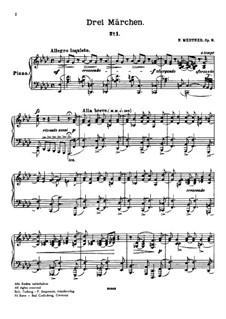 Three Fairy Tales, Op.9: Three Fairy Tales by Nikolai Medtner