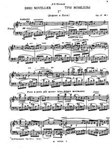 Three Novellas, Op.17: Three Novellas by Nikolai Medtner