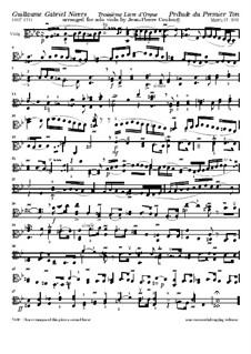 Troisième livre d'orgue: No.1 Prelude, for Viola by Guillaume-Gabriel Nivers
