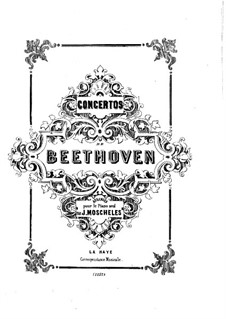 Fragments: Movement I. Version for piano by Ludwig van Beethoven