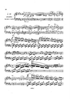 Fragments: Movements II-III. Version for piano by Ludwig van Beethoven