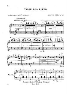 Valse des Elfes, Op.497: For a single performer by Franz Behr