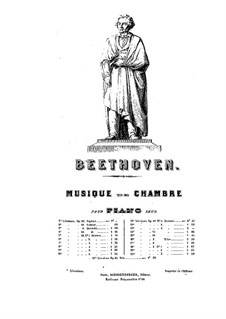 Quartet No.3 in  D Major: Version for piano by Ludwig van Beethoven