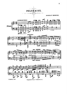Polonaise for Piano: Polonaise for Piano by Florian Oborski