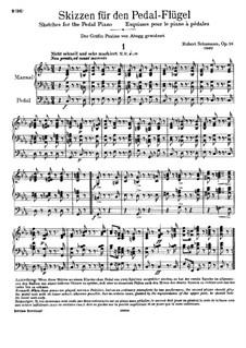 Sketches, Op.58: Complete set by Robert Schumann