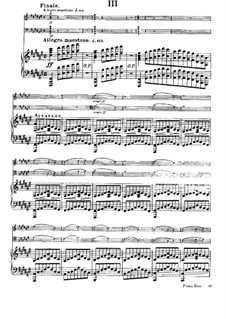 Three Concert Trios for Violin, Cello and Piano, Op.1: Trio No.1 in F Sharp Minor, Movement III by César Franck