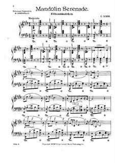 Mandolin Serenade: For piano by Carl Böhm