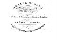 Grand Sonata for Piano, Op.8a: For a single performer by Friedrich Kuhlau