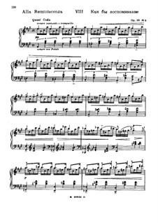 Forgotten Melodies I, Op.38: No.8 Alla Reminiscenza by Nikolai Medtner