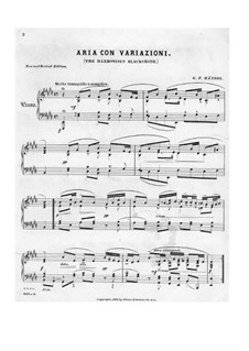 Suite No.5 in E Major, HWV 430: Movement III, for piano by Georg Friedrich Händel