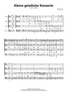 Kleine geistliche Konzerte, Op.8: Nr.19 Himmel und Erde vergehen, SWV 300 by Heinrich Schütz
