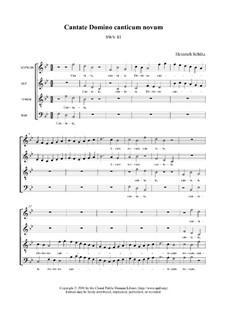 Cantiones sacrae, Op.4: No.29 Cantate Domino canticum novum, SWV 081 by Heinrich Schütz
