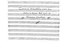 Concerto for Mandolin, Two Violins and Basso Continuo: Parts by Domenico Caudioso
