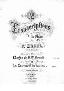 transcription on themes le carnaval de venise by ernst by f erkel