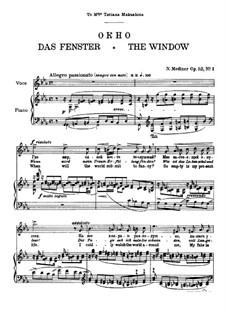 Seven Songs after Pushkin, Op.52: Complete set by Nikolai Medtner