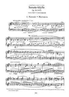 Sonata-Idyll for Piano in G Major, Op.56: For a single performer by Nikolai Medtner