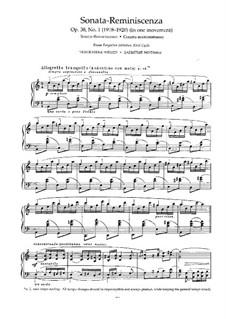 Forgotten Melodies I, Op.38: Complete set by Nikolai Medtner