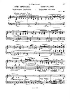 Three Fairy Tales, Op.42: Complete set by Nikolai Medtner