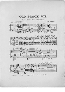 Variations on Theme 'Old Black Joe' by S. Foster: Variations on Theme 'Old Black Joe' by S. Foster by Frank W. Meacham