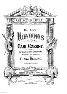Berühmte Rondinos: Berühmte Rondinos by Carl Czerny