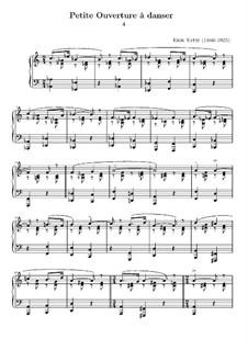 Petite ouverture à danser: For piano by Erik Satie