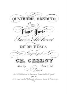 Quatrième Rondino, Op.39 No.4: Quatrième Rondino by Carl Czerny