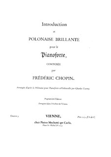 Introduction and Polonaise Brilliant in C Major, Op.3: For piano by Frédéric Chopin