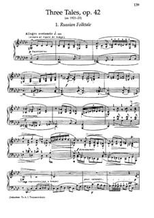 Three Fairy Tales, Op.42: No.1 Russian Folktale by Nikolai Medtner