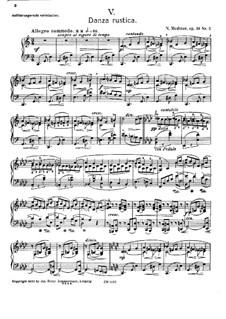 Forgotten Melodies I, Op.38: No.5 Danza Rustica by Nikolai Medtner